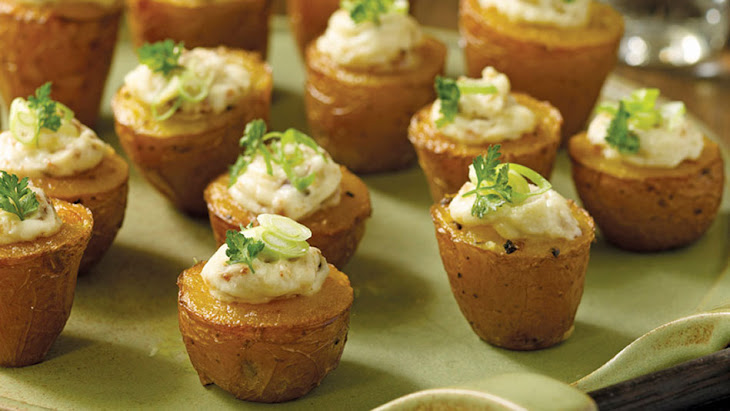 Tiny Twice-Baked Potatoes with Smoked Paprika and Bacon Recipe ...
