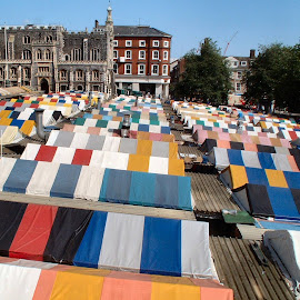 The Old Norwich Market by Bob White - Buildings & Architecture Public & Historical ( market, colorful, colors, covered,  )