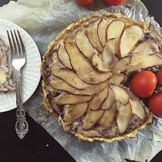 Pears, onions and Tofu Tart