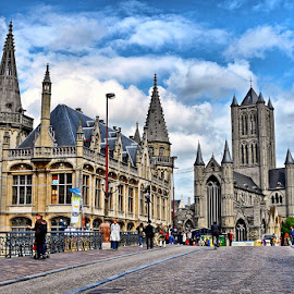 Ghent by Francis Xavier Camilleri - City,  Street & Park  Historic Districts ( belgium, travel, architecture, street scene, ghent )