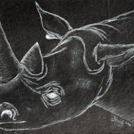Leave me behind by Jo Soule - Drawing All Drawing ( missing, horn, rhino,  )