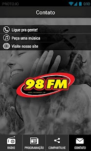98 FM Presidente Prudente - screenshot