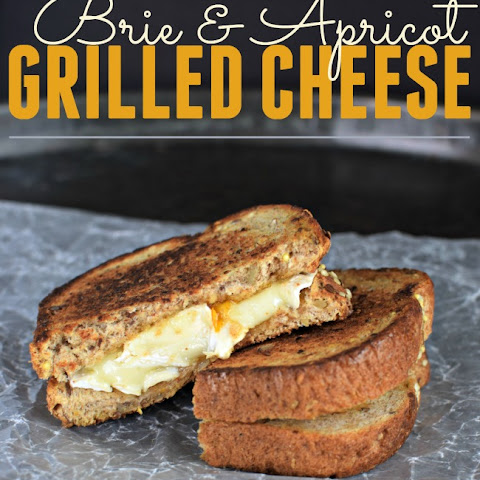Brie and Apricot Grilled Cheese