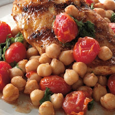 Chicken Breasts with Skillet-Roasted Tomatoes and ChickpeasRecipe by Jamie Purviance