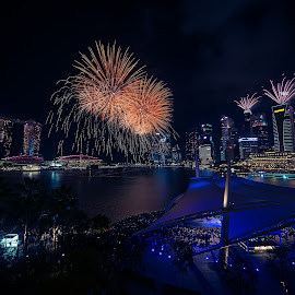 Marina Bay fireworks by Crispin Lee - City,  Street & Park  Night