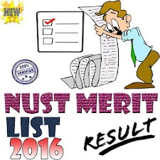 NUST merit list 2016