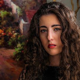 Portrait  by Andrzej Bajer - People Portraits of Women ( women, portrait )