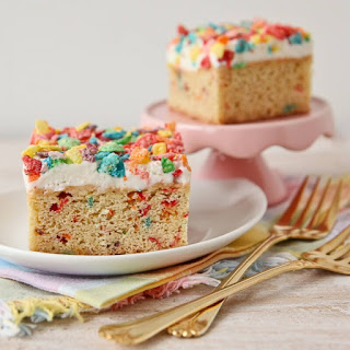 Fruity Pebbles Funfetti Ice Cream Squares