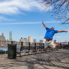 Jump Doug by George Petropoulos - People Street & Candids ( skyline, new york, travel, spring, jump )