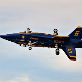 Blue Angels by A.j. Amos - Transportation Airplanes ( aircraft, navy, jet, airshow, military )