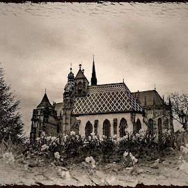 The church somewhere over the hill .... by Pete Schmit - City,  Street & Park  Historic Districts