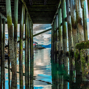 Under pier by Benny Høynes - Landscapes Waterscapes ( canon, mark2, bennyhøynes, offersøy, pier, norway )