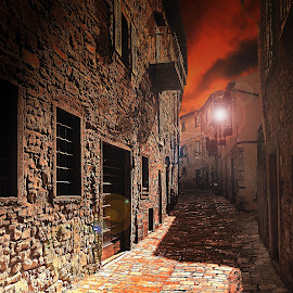 Petite ruelle italienne by Gérard CHATENET - Digital Art Places