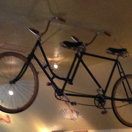 Two- seater on the ceiling by Katie Mac - Transportation Bicycles ( decor, bicycles, light play, tandem bikes, ceilings )