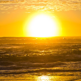 by Nicolas Palacios Hernandez - Landscapes Sunsets & Sunrises ( water, waterscape, sea, ocean, yellow, sunrise, ocean view, sun )