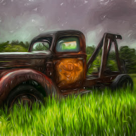 Tweaking Tomater  by Chris Cavallo - Digital Art Things ( maine, digital manipulation, digital art, rusty, digital painting, decay, abandoned )