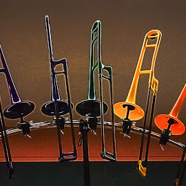 Trombones by Dave Lipchen - Artistic Objects Musical Instruments ( trombones )