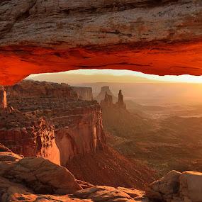 Mesa Arch at Sunrise by Gordon Banks - Landscapes Deserts ( desert, red rocks, sunrise, mesa arch, landscape, canyonlands national park )
