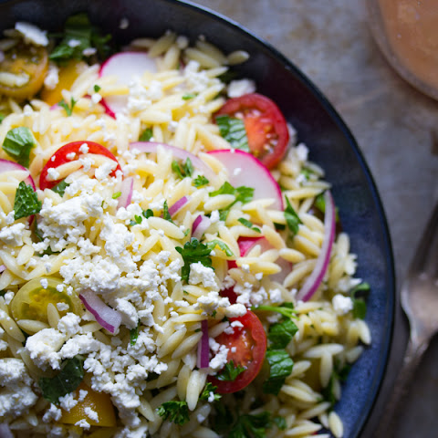 Herbed Orzo Pasta Salad with Feta