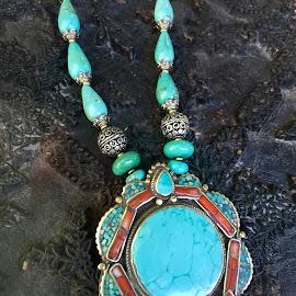 Blue on a Rock by Lope Piamonte Jr - Artistic Objects Jewelry