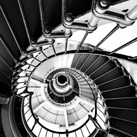 by Connie Weil - Uncategorized All Uncategorized ( b&w, stairway, lighthouse )