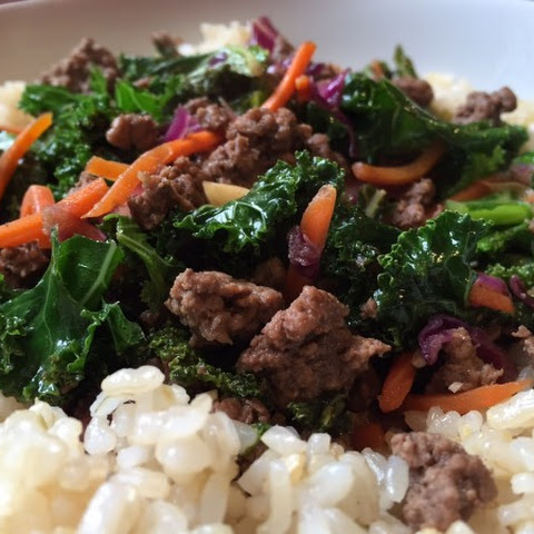 Ground Beef and Kale Stir-Fry