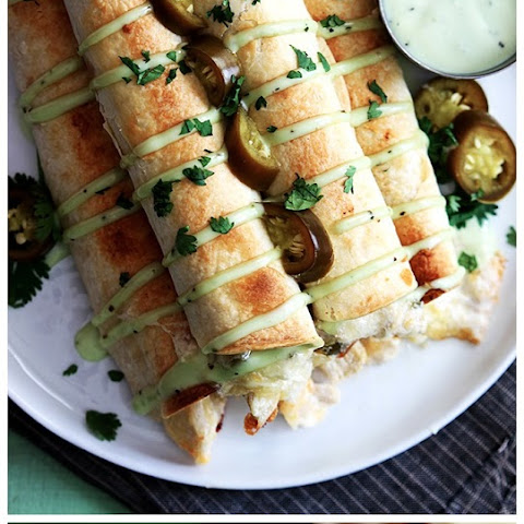 Slow Cooker Jalapeno Popper Chicken Taquitos