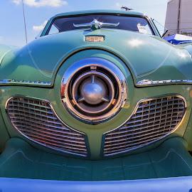 Studibaker by Roger Bourland - Transportation Automobiles ( car, grill, headlights, automobile, art, nose )