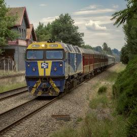 The Heritage Express by Jim Merchant - Transportation Trains ( railway, vintage, train, dining car, diesal, heritage )