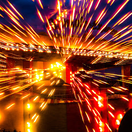 Fair ground by Linda McBride - Abstract Light Painting