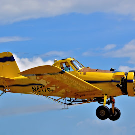 Crop Duster by Jarrod Unruh - Transportation Airplanes ( flying, aviation, sky, spray, airplane, aircraft, crops, farming, crop )