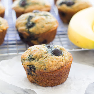 Light and Fluffy Blueberry Banana Muffins