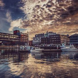 Tromsø by Robin Tøllefsen - City,  Street & Park  Skylines ( #skyline #reflections #clouds #cityscape #hdr )