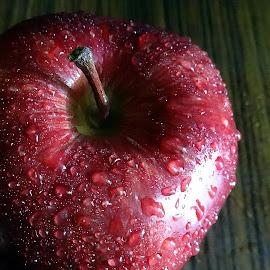 Red Apple 4 by Pradeep Kumar - Food & Drink Fruits & Vegetables