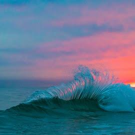 Man O' War Backwash by Michael Hesse - Landscapes Waterscapes ( backwash, explosion, sunset, alabama, waterscapes )