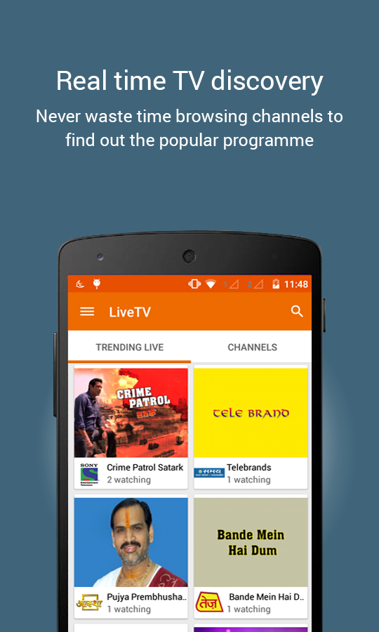 YuppTV - LiveTV Movies Shows Screenshot 1