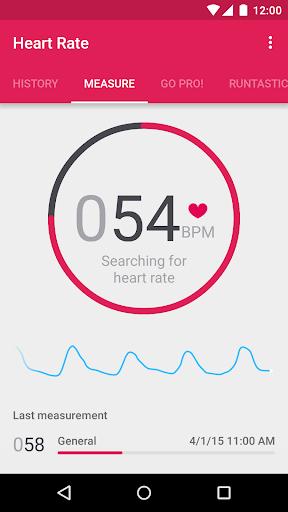 Runtastic Heart Rate Monitor & Pulse Checker screenshot 1