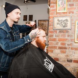 Barbers world by Paweł Mielko - People Body Art/Tattoos ( beards, tattoos, barbershop, barbers, beard, barber, tattoo )