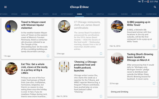 Chicago Tribune - screenshot