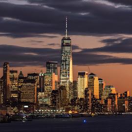 New York City by Jose De La Cruz - City,  Street & Park  Skylines ( new york city )