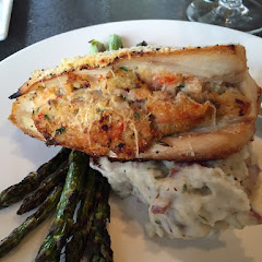 Mahi stuffed with crabmeat gluten free
