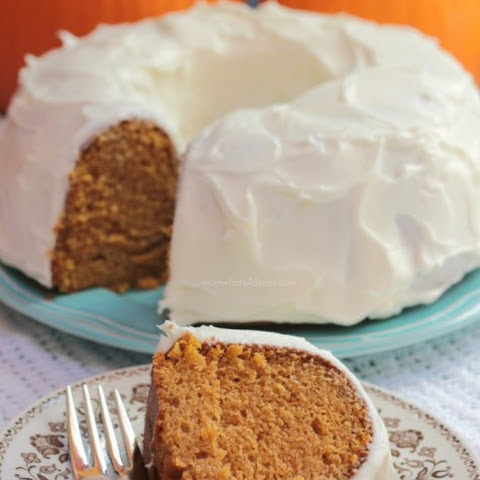 Pumpkin Bundt Cake with Cream Cheese Frosting Recipe | Yummly