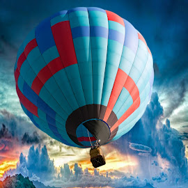 Balloon in the sky by Victor Orazi - Transportation Other