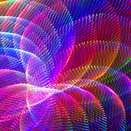 Neon plant life by Jim Barton - Abstract Patterns ( laser light, all the colors, colorful, neon plant life, ocean, laser light show, sea growth, science, nature, light design, neon, laser design, laser, light, laser sample )