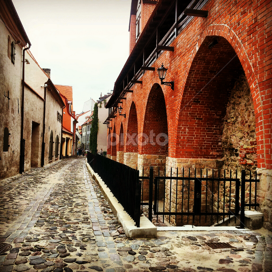 Oldtown in Riga by Julija Moroza Broberg - Instagram & Mobile iPhone ( urban, old, oldtown, street, architecture, town, city )