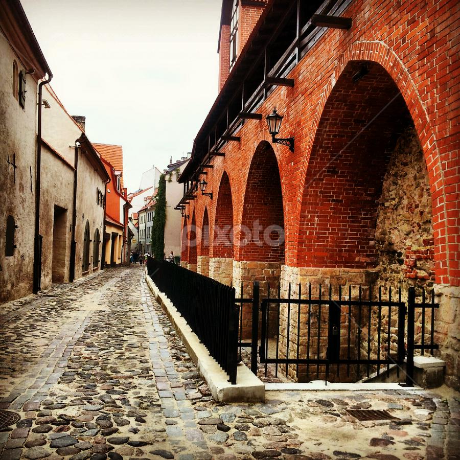 Oldtown in Riga by Julija Moroza Broberg - Instagram & Mobile iPhone ( urban, old, oldtown, street, architecture, town, city )