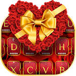 Gold Rose Heart Keyboard Theme Icon