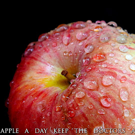 An apple... by Asif Bora - Typography Quotes & Sentences