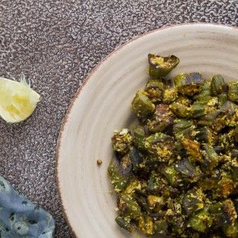 Stir-fried Okra with Coconut (Bhinda Copra nu shaak)