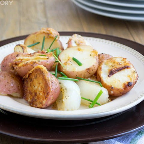 Parmesan Roasted Red Potatoes with Vidalia Onions